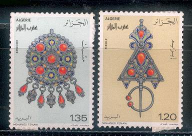 les bijoux à travers des timbres arabes Dz3