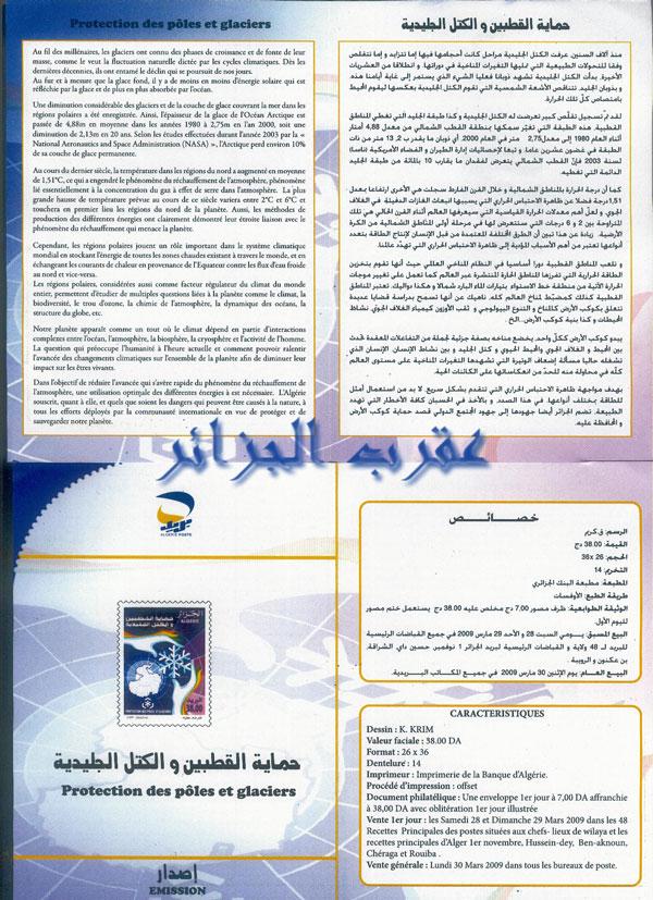 04/2009 PROTECTION DES POLES ET DES GLACIERS Notice